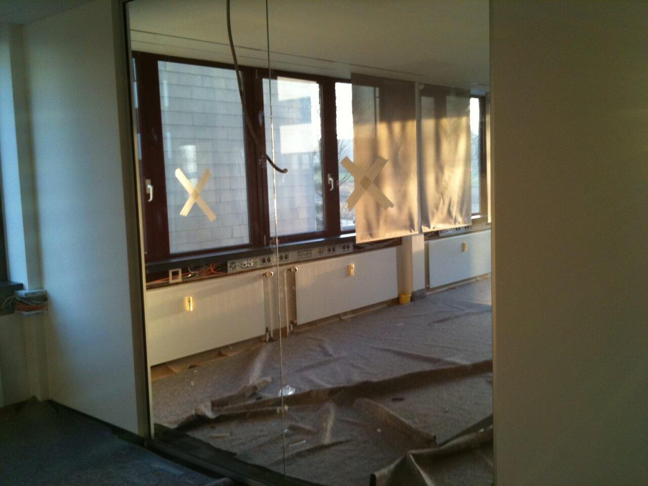Rollos bei offener Baustelle